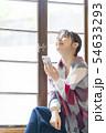 若い女性 スマホ 思い出 54633293