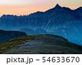 双六岳から見る夜明けの槍ヶ岳 54633670