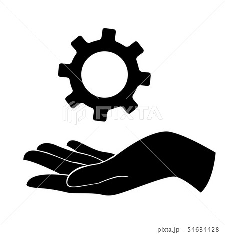 hand holding gear , engineer symbol 54634428
