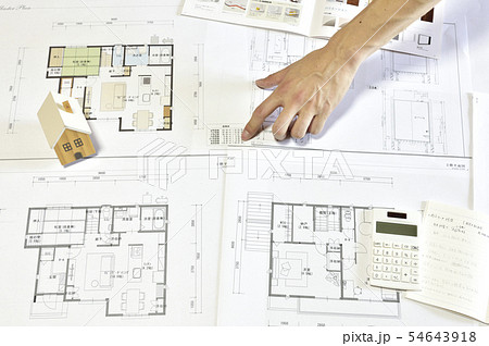 【商談、会議、打ち合わせ】マイホーム 家づくり計画 54643918