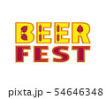Beer fest hand drawn flat color vector lettering 54646348