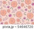 手書きの花柄背景素材 ピンク 54646720
