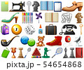 Set of random objects 54654868