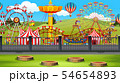 Amusement park background scene 54654893