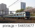 春の川口駅前を出発する京浜東北線E233系 54655677
