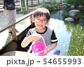 ザリガニ釣りをする子ども 54655993