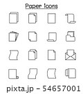 paper icon set in thin line style 54657001