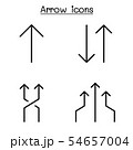 Arrow icon set in thin line style 54657004