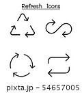 Refresh icon set in thin line style 54657005