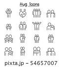 Lover, hug, friendship, relationship icon set in 54657007