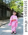 浴衣 (夏祭り 盆踊り イベント 行事 伝統 和服 園児 女児 文化 育児 子育て 子供 着物 寺) 54658105