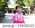浴衣 (夏祭り 盆踊り イベント 行事 伝統 和服 園児 女児 文化 育児 子育て 子供 着物 寺) 54658123