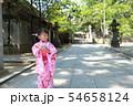浴衣 (夏祭り 盆踊り イベント 行事 伝統 和服 園児 女児 文化 育児 子育て 子供 着物 寺) 54658124