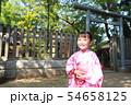 浴衣 (夏祭り 盆踊り イベント 行事 伝統 和服 園児 女児 文化 育児 子育て 子供 着物 寺) 54658125