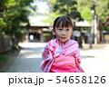 浴衣 (夏祭り 盆踊り イベント 行事 伝統 和服 園児 女児 文化 育児 子育て 子供 着物 寺) 54658126