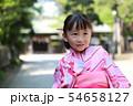 浴衣 (夏祭り 盆踊り イベント 行事 伝統 和服 園児 女児 文化 育児 子育て 子供 着物 寺) 54658127
