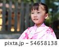 浴衣 (夏祭り 盆踊り イベント 行事 伝統 和服 園児 女児 文化 育児 子育て 子供 着物 寺) 54658138