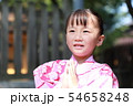 浴衣 (夏祭り 盆踊り イベント 行事 伝統 和服 園児 女児 文化 育児 子育て 子供 着物 寺) 54658248