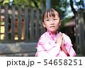 浴衣 (夏祭り 盆踊り イベント 行事 伝統 和服 園児 女児 文化 育児 子育て 子供 着物 寺) 54658251