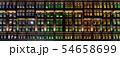 シンガポール・シンガポール情報通信芸術省のカラフルな窓 夜景 54658699