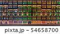 シンガポール・シンガポール情報通信芸術省のカラフルな窓 夜景 54658700