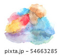 Watercolor illustration of abstract background. 54663285