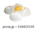 Watercolor of Steamed Creamy Custard Bun. 54663339