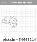 Iguana to be colored. Coloring book for children. Visual game. 54665214