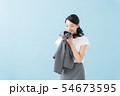 働く女性の匂い(ブルーバック) 54673595