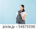 働く女性の匂い(ブルーバック) 54673596
