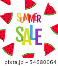 Summer Sale Poster With Watermelon And Text 54680064
