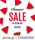 Summer Sale Poster With Watermelon 54680066