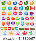 Sale And Discount Labels Set Isolated Transparent 54680067