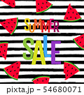 Color Summer Sale Poster With Watermelon And Text 54680071