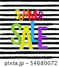 Colorful Summer Sale Poster With Watermelon And 54680072