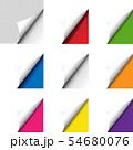 Big Colorful Corner Set Isolated 54680076