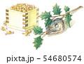 日本の年中行事イラスト:2月/升豆と柊鰯 54680574