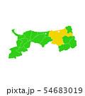 鳥取県と鳥取市地図 54683019