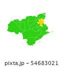 徳島県と徳島市地図 54683021