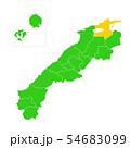 島根県と松江市地図 54683099
