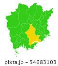 岡山県と岡山市地図 54683103