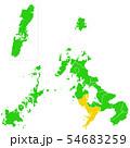 長崎県と長崎市地図 54683259
