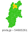 長野県と長野市地図 54683261