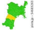 宮城県と仙台市地図 54683263