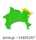 神奈川県と川崎市地図 54683267