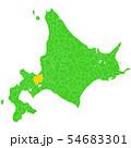 北海道と札幌市地図 54683301