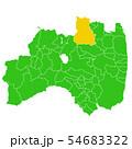 福島県と福島市地図 54683322