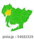 愛知県と名古屋市地図 54683329