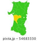 秋田県と秋田市地図 54683330