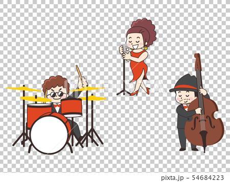 鼓手爵士歌手貝斯手 54684223